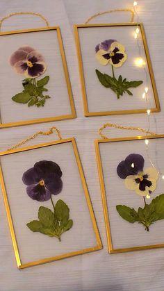 A Comprehensive Overview on Home Decoration - Modern Pressed Flowers Frame, Pressed Flower Art, Flower Frame, Pressed Leaves, Flower Crafts, Diy Flowers, Press Flowers, Drying Flowers, Flowers Nature