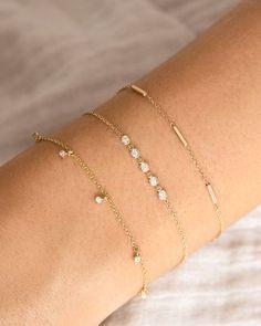 14k Gold Bracelet, Diamond Bracelets, Sterling Silver Bracelets, Diamond Rings, Cute Bracelets, Ankle Bracelets, Jewelry Bracelets, Chain Bracelets, Simple Bracelets