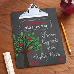This personalized clipboard is perfect for the classroom!