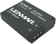 Lenmar - Lithium-Ion Battery for Select Nikon Digital Cameras - Black, DLNEL12