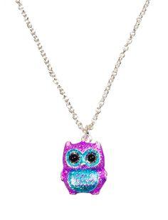 Glitter Owl Necklace