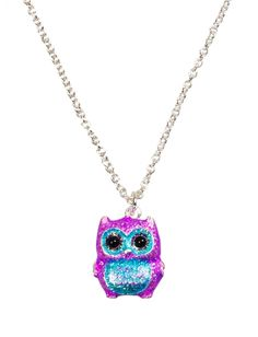 Glitter Owl Necklace