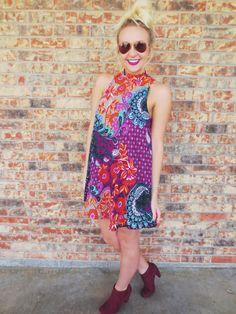 Paisley Leaves Dress
