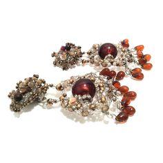 Boucles d'oreille KETIKO à perles de rocaille : Boucles d'oreille par ketiko