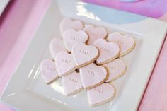 Pink cookies from Pink Paris 1st Birthday Party at Kara's Party Ideas. See more at karaspartyideas.com!