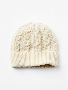 Cable-knit sweater beanie Product Image
