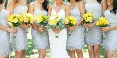 Image result for grey yellow dresses