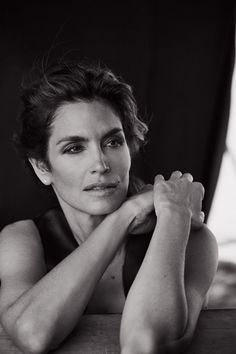 Cindy Crawford by Peter Lindbergh for Italian Vogue, Sept. 2015