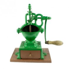 la Bodega Antiques. Antique Coffee Grinder Mutzig Framont No.0 Cast Iron Smallest model hand crank mill.