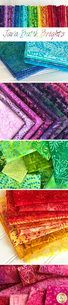 Java Batik Brights is a vibrant collection sure to brighten any project from Maywood Studio Fabrics available at Shabby Fabrics.