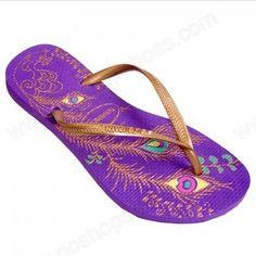 93b0c10632bb4 pretty purple   gold flip flops Gold Flat Sandals