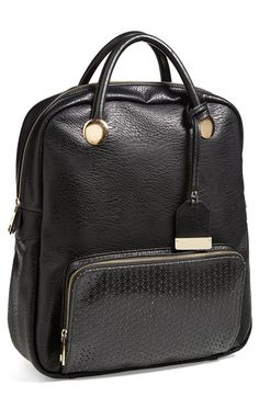 POVERTY FLATS by rian Perforated Trim Backpack available at #Nordstrom #NSale