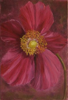 anemone  of fall original canvas 118 x78 inches by Blumenmalerei, €32.00