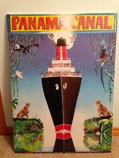 Resultado de imagen para vintage posters postcards panama canal
