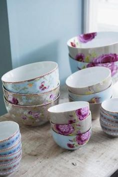 Bowls  in beautiful floral pattern