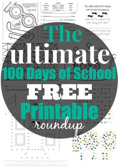 Check out our list of the 25 Best Free Day of School Printable Activities and Worksheets - free printable 100 days of school glasses, crowns, & 100 Days Of School, School Holidays, Middle School, 100. Tag, 100 Day Celebration, School Worksheets, Printable Worksheets, Free Printables, Hundred Days
