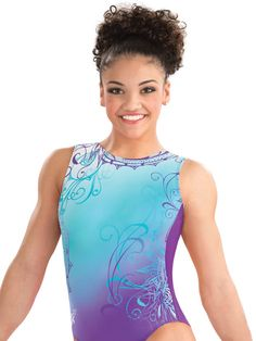 Laurie Hernandez Whirl of Wonder Leotard from GK Elite. I LOVE ❤️ this Leo!!!