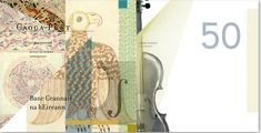 The Ireland currency redesign concept. The design focuses on famous poets, musical instruments, and illuminated manuscripts that  highlight Irish culture. Designed by Joseph Tutalo (http://joetutalo.com)