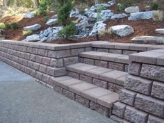 step and retaining wall...would love to do this with my front steps