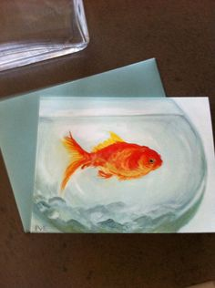 little goldfish. $16.00, via Etsy. 8 notecards (it would be fun to frame one)