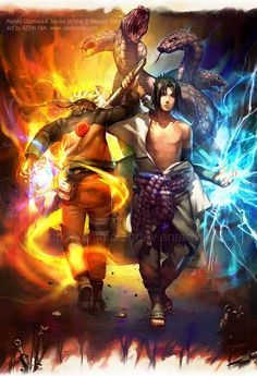 Naruto vs Sasuke, epicness (you know what it feels like to lose your best friend? the one who knew you best? and then, have to fight them when you don't want to? This is why Naruto will remain popular, I think. Naruto and Sasuke Naruto Shippuden Sasuke, Naruto Kakashi, Anime Naruto, Manga Anime, Art Naruto, Fanarts Anime, Gaara, Sasunaru, Narusasu