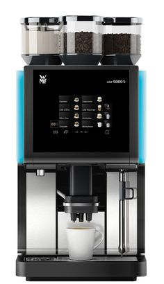 WMF Bean to Cup + VAT/week lease hire for five years - high capacity @ 200 cups/hour, plumbed. Additional cost in beans/milk. No self clean steam arm (rarely used - only for skinny/lactose if semi skimmed in m/c) Espresso Machine Reviews, Best Espresso Machine, Drip Coffee Maker, Coffee Cups, Professional Coffee Machine, Coffee Machine Design, Coffee Delivery, Beans, Coffee Machines