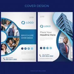 Flyer Vectors, Photos and PSD files Brochure Cover Design, Graphic Design Brochure, Brochure Layout, Graphic Design Posters, Book Cover Design, Graphic Design Inspiration, Corporate Brochure Design, Booklet Design, Flyer Design