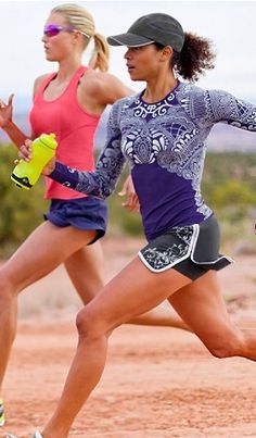Love these running clothes...and love the purple shirt. i-want