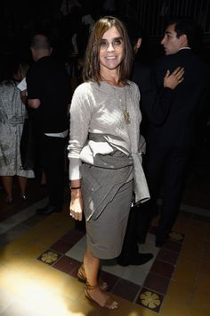 Carine Roitfeld Photos - Carine Roitfeld attends the Lanvin show as part of the Paris Fashion Week Womenswear Spring/Summer 2015 on September 2014 in Paris, France. - Front Row at Lanvin Julia Restoin Roitfeld, Carine Roitfeld, Paris Fashion, Fashion Show, Gray Matters, Contemporary Fashion, Lanvin, Front Row, Chic