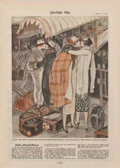 Karikatur mit Text Simplicissimus, ca. 1926.