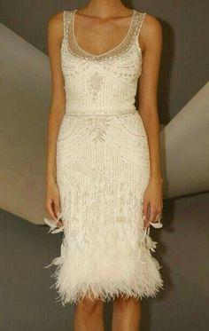 Elegante vestido de Carolina Herrera.