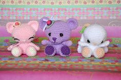 Amigurumis: 3 en 1 *Free Crochet Patterns* **en español**