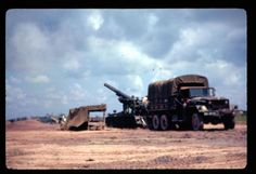 US Army truck and self-propelled howitzer