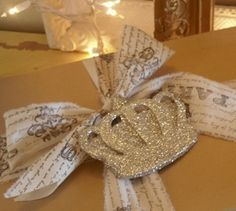 PICK YOUR COLOR  Glittered Royal Crown Gift by TheFrenchNestCo, $5.00