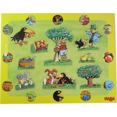 Award winning item. Discovery Puzzle - Orchard. 10 jigsaw pieces. Includes a look closely story on the back of the puzzle.