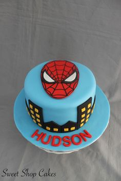 Spiderman themed birthday cake on Cake Central