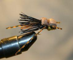 Fly Fishing Flies Lure Hopper Brown Foam by woodsedgestudios60, $2.00