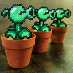 plants v zombies perler beads - Google Search