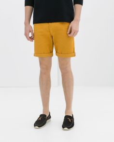 ZARA - MAN - COLORED DENIM BERMUDAS