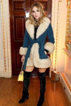 Stuart Weitzman x Gigi Hadid dinner, London – November 14 2016 Suki Waterhouse 70s Fashion, Fashion Killa, Star Fashion, Daily Fashion, Fashion Beauty, Winter Fashion, Gigi Hadid, Stuart Weitzman, Fashion Business