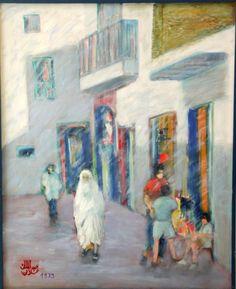 Abdelmalek Allani -  Les Enfants De La Médina - Peinture à l'huile