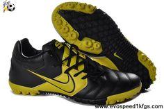Low Price Nike5 Bomba Black Yellow Football Shoes Store
