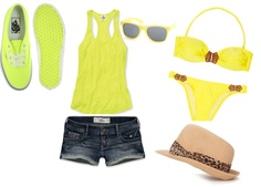 """""""perfect beach outfit"""" by kennedimorgan on polyvore"""