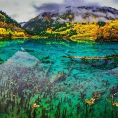 The Wuhua Lake Panorama 五花海全景