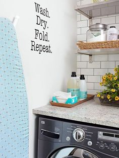 "8-Tips for a Great Laundry Room from The Everyday Home and Barb Garrett www.everydayhomeblog.com  ""Ideas for Living a Simple Life!"""