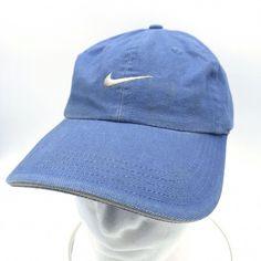 8cbee13d4 NIKE Swoosh Blue Baseball Cap HAT Adjustable Strapback Sandwich Brim  Unstructure | Clothing, Shoes &
