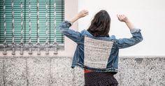 DIY denim jacket tutorial with sewing machine. Customizar cazadora tejana con maquina de coser Alfa y Primeriti.