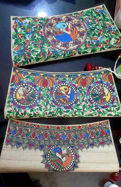 Madhubani Paintings Peacock, Kalamkari Painting, Madhubani Art, Indian Art Paintings, Worli Painting, Fabric Painting, Saree Painting Designs, Rajasthani Art, Hand Painted Fabric