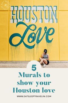 Check out our blog post for 5 murals to show your Houston love and pride. Top instagrammable spots in Houston. Visit Houston, Houston Tx, Houston Murals, Shes Like Texas, Houston Locations, San Jacinto, H Town, Love Wall, Weekend Trips