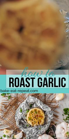 Roasted garlic is fantastic in so many recipes. Today I'm sharing how to roast garlic in the oven, either as a whole head, or individual cloves! Slow Cooker Recipes Dessert, Fall Dessert Recipes, Fall Recipes, Dinner Recipes, Cooking Recipes, Sweets Recipes, Cooking Ideas, Appetizer Recipes, Roasted Garlic Cloves